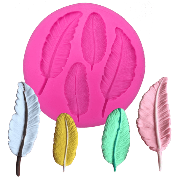 Birds Feathers Silicone Fondant Mold - bakeware bake house kitchenware bakers supplies baking