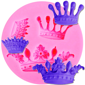 Pink Crowns Silicone Fondant Mold - bakeware bake house kitchenware bakers supplies baking