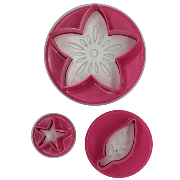 Plunge Cutter Flower, Leaf And Star - bakeware bake house kitchenware bakers supplies baking