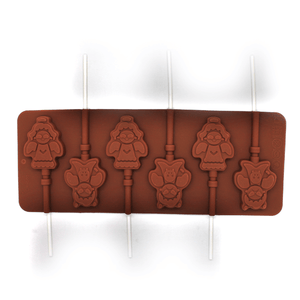 Silicone Lollipop Mold Snowman