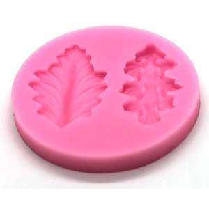 Pink Mold Leaves 2 Design - bakeware bake house kitchenware bakers supplies baking