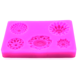 Crochet Pattern Flower Gumpaste Mold - bakeware bake house kitchenware bakers supplies baking