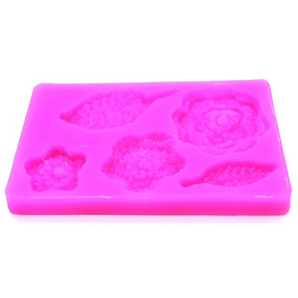 Crochet Flower And Leaf Sugarcraft Mold