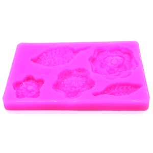 Crochet Flower And Leaf Sugarcraft Mold - bakeware bake house kitchenware bakers supplies baking