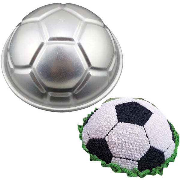 Silver Soccer Ball Cake Mould - bakeware bake house kitchenware bakers supplies baking