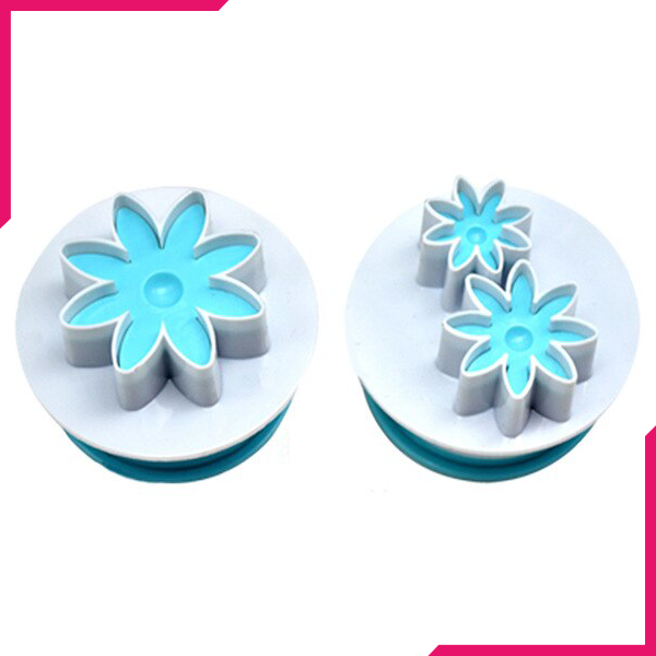 Daisy Plunge Cutter Stamp Set - bakeware bake house kitchenware bakers supplies baking
