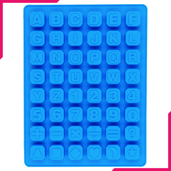 48 Cavity Alphabet Letter Number Math Sign Silicone Mold - bakeware bake house kitchenware bakers supplies baking