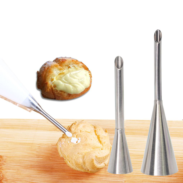 Stainless Steel Puff Cream Pastry Piping Nozzles Set - bakeware bake house kitchenware bakers supplies baking