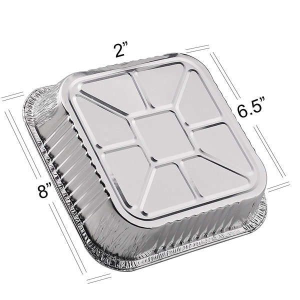 Disposable Aluminium Foil Container For Food 4pcs - bakeware bake house kitchenware bakers supplies baking