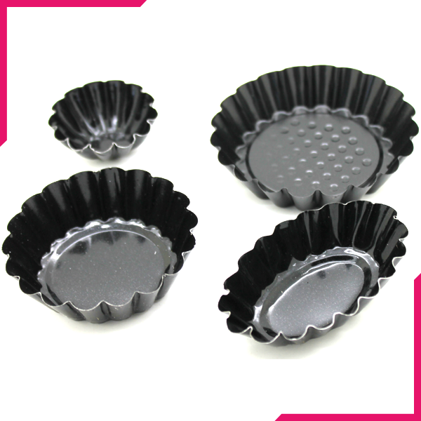 Tart Mold Pan 4 Designs - bakeware bake house kitchenware bakers supplies baking