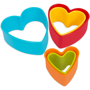Cookie Cutter Heart Shape 5pcs - bakeware bake house kitchenware bakers supplies baking