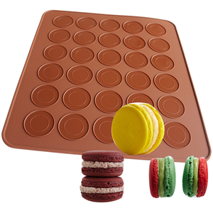 Silicone Macaron Mat 30 Capacity Round - bakeware bake house kitchenware bakers supplies baking