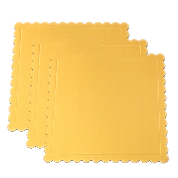 Square Cake Board Golden 10Pcs - bakeware bake house kitchenware bakers supplies baking