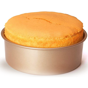 Round Gold Color non-stick Steel Cake Pan - bakeware bake house kitchenware bakers supplies baking