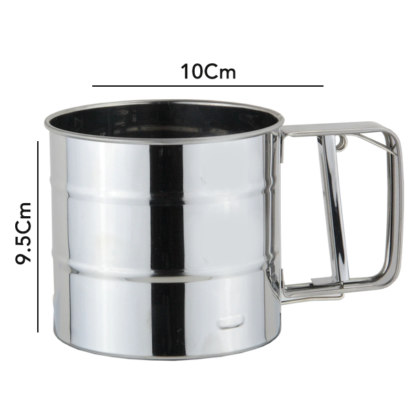 Stainless Steel Flour Sifter - bakeware bake house kitchenware bakers supplies baking