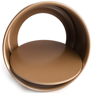 Round Gold Color Non-Stick Steel Cake Pan 8 Inches - bakeware bake house kitchenware bakers supplies baking
