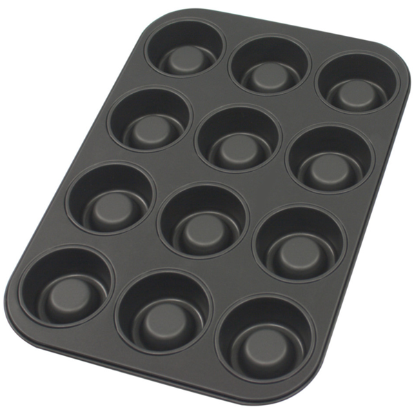 Non-Stick 12 Cup Muffin Tray - bakeware bake house kitchenware bakers supplies baking