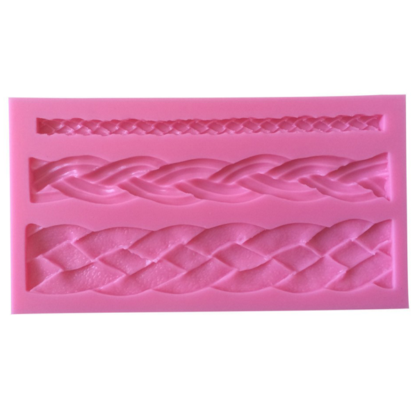 Braid weave silicone mold - bakeware bake house kitchenware bakers supplies baking