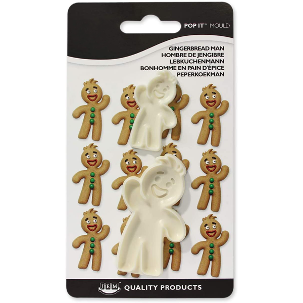 Gingerbread Man Fondant & Cookie Cutter 2Pcs - bakeware bake house kitchenware bakers supplies baking