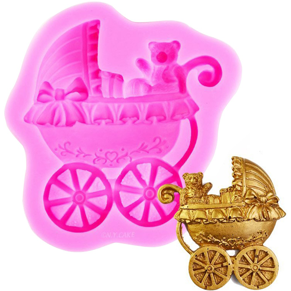 3D baby stroller silicone mold - bakeware bake house kitchenware bakers supplies baking