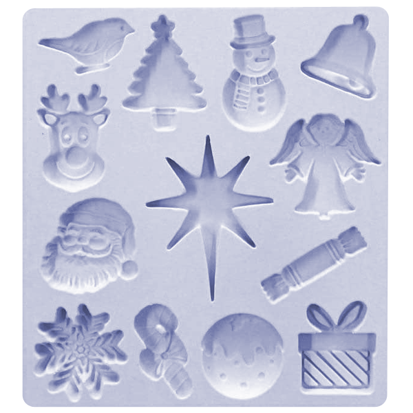 Christmas Embellishments Silicone Mold - bakeware bake house kitchenware bakers supplies baking