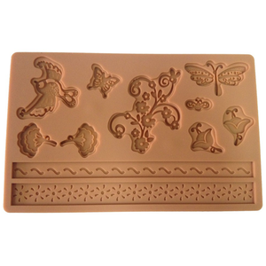 Butterfly Birds Flowers Silicone Mold - bakeware bake house kitchenware bakers supplies baking
