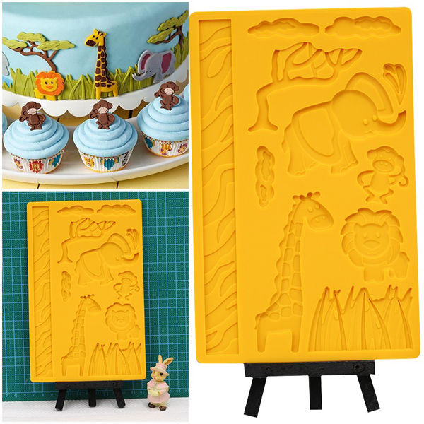 3D Lace Zoo Silicone Embossing Mould - bakeware bake house kitchenware bakers supplies baking