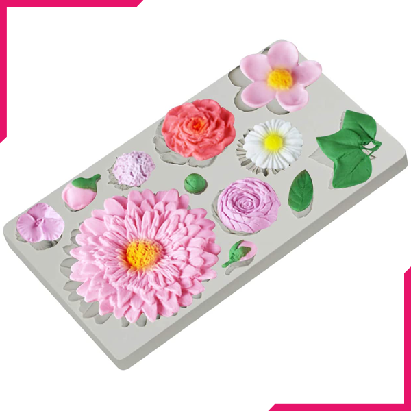 Buttercream Flowers Silicone Mold - bakeware bake house kitchenware bakers supplies baking