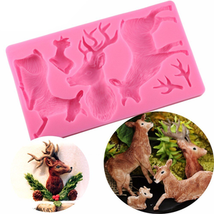 Deer Head 3D Silicone Mold - bakeware bake house kitchenware bakers supplies baking