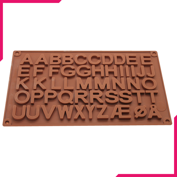 Large Alphabet Silicone Chocolate Mold - bakeware bake house kitchenware bakers supplies baking