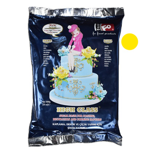Yellow Fondant Sugar Paste 1Kg Pack - bakeware bake house kitchenware bakers supplies baking