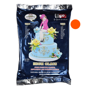 Orange Fondant Sugar Paste 1Kg Pack - bakeware bake house kitchenware bakers supplies baking
