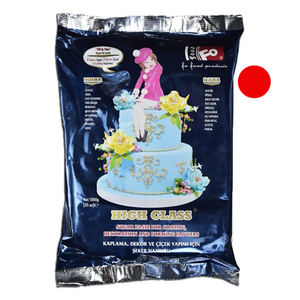 Red Fondant Sugar Paste 1Kg Pack - bakeware bake house kitchenware bakers supplies baking