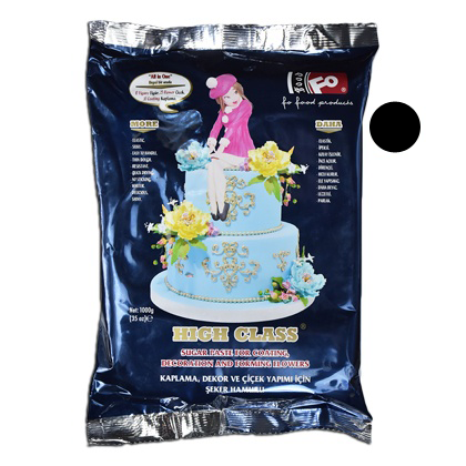 Black Fondant Sugar Paste 1Kg Pack - bakeware bake house kitchenware bakers supplies baking