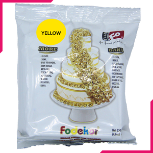 Yellow Fondant Sugar Paste 250g Pack - bakeware bake house kitchenware bakers supplies baking