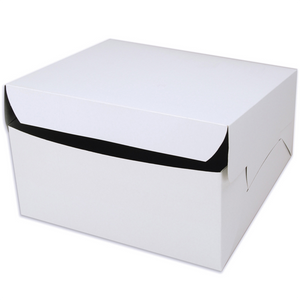 White Cake Box 12x12 Inches - bakeware bake house kitchenware bakers supplies baking
