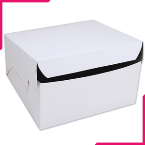 White Cake Box 10x10 Inches - bakeware bake house kitchenware bakers supplies baking