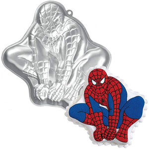 Silver Cartoon Cake Mould - Spiderman - bakeware bake house kitchenware bakers supplies baking