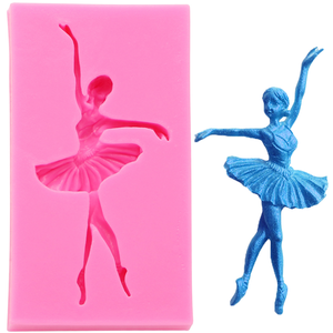 Silicone Mold Dancing Girl - bakeware bake house kitchenware bakers supplies baking