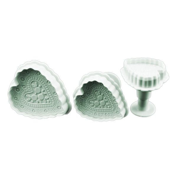 Embossed Heart Plunger Cutter Set