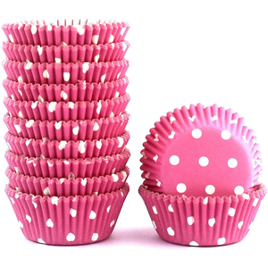 Pink Dot Mini Cupcake Liners 200pcs - bakeware bake house kitchenware bakers supplies baking