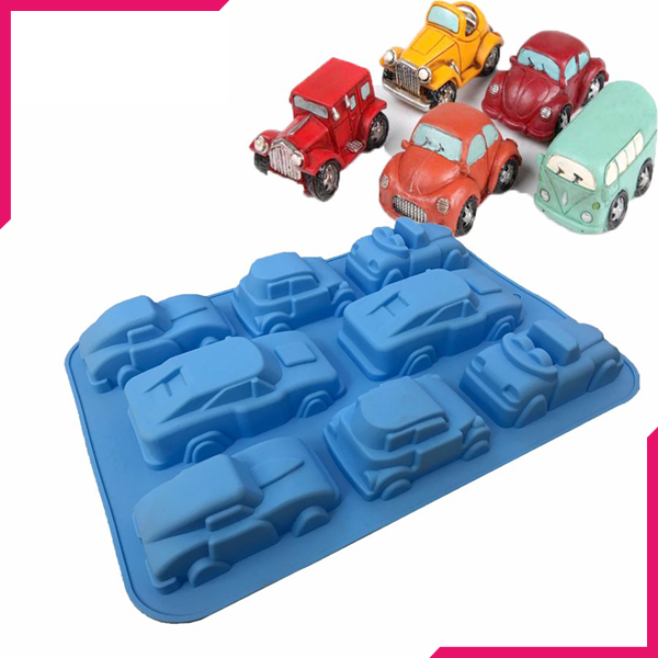 Racing Cars Silicone Mold - bakeware bake house kitchenware bakers supplies baking