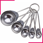 VOCEN Stainless Steel Measuring Spoons 5Pcs - bakeware bake house kitchenware bakers supplies baking