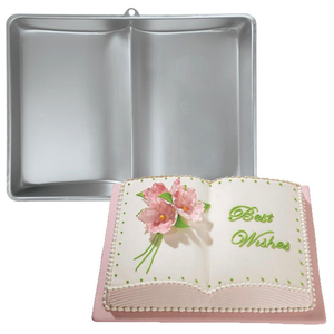 Large Aluminum 3D Book Cake Pan