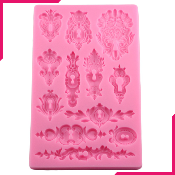 Damask Pattern Silicone Fondant Mold - bakeware bake house kitchenware bakers supplies baking