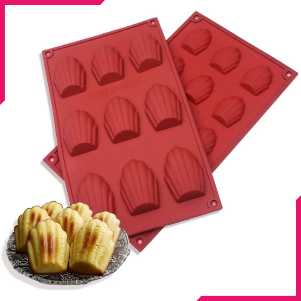 Shell shape silicone chocolate mold 9-cavity - bakeware bake house kitchenware bakers supplies baking
