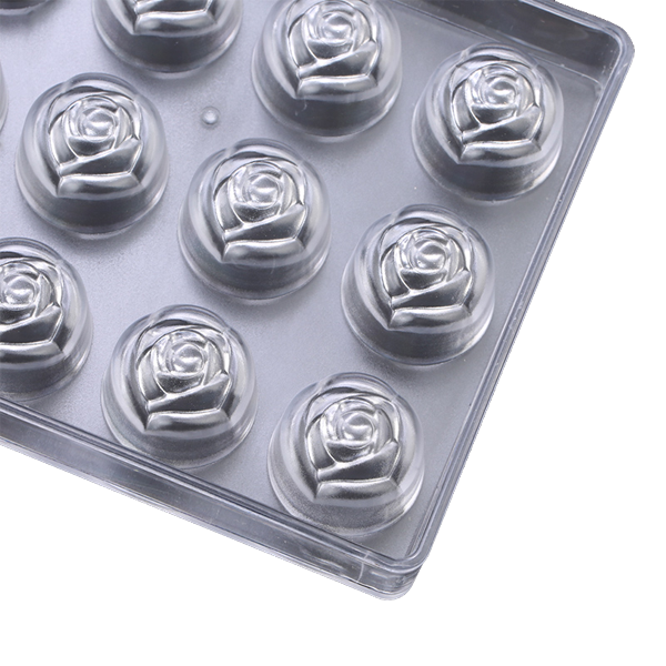 Acrylic Chocolate Mold Rose Flower - bakeware bake house kitchenware bakers supplies baking