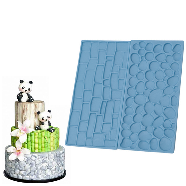 Brick Wall Embossing Lace Stamp 2Pcs - bakeware bake house kitchenware bakers supplies baking