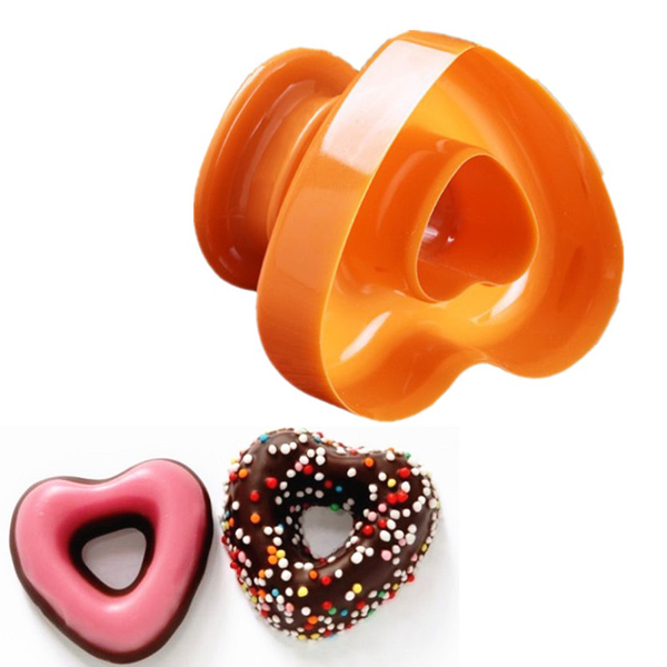 Donut Cutter Heart Shaped - bakeware bake house kitchenware bakers supplies baking