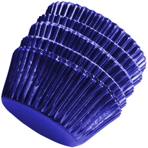 Aluminum Foil Cupcake Liner Navy Blue 100Pcs - bakeware bake house kitchenware bakers supplies baking
